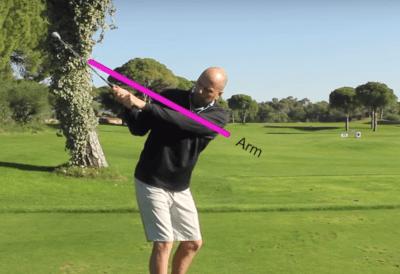 Der flacher golfschwung