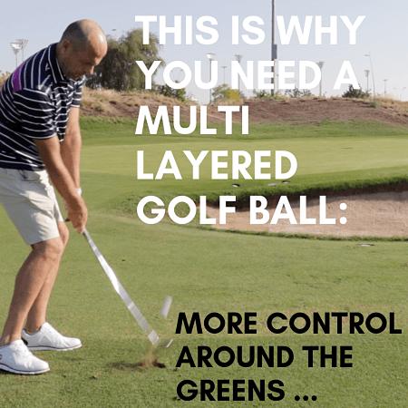 Multi layered balls improve performance around the green