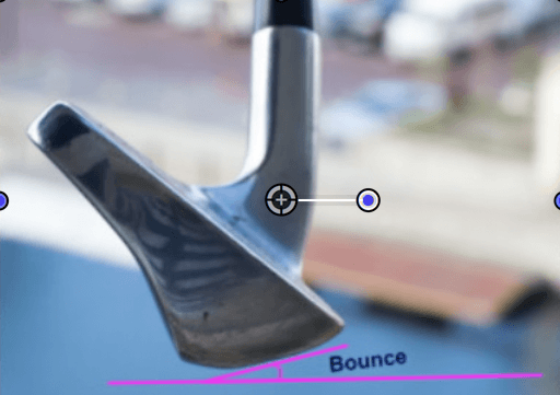 Golfbegriff Bounce