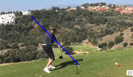 golfschwung abschwung
