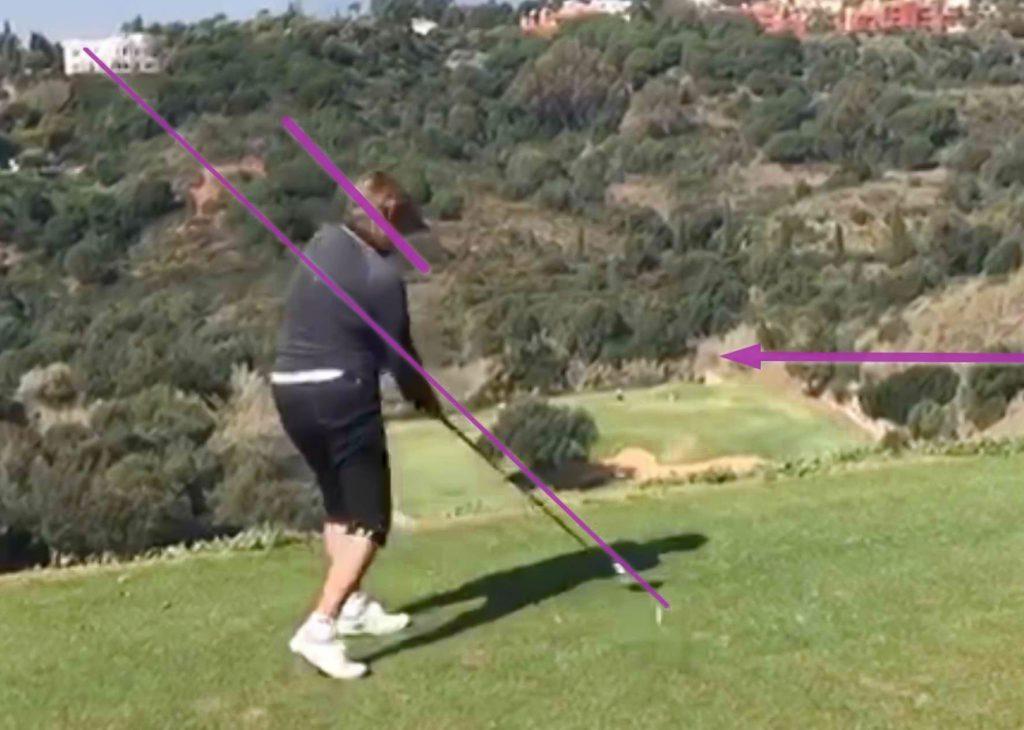 golf flacher aufschwung
