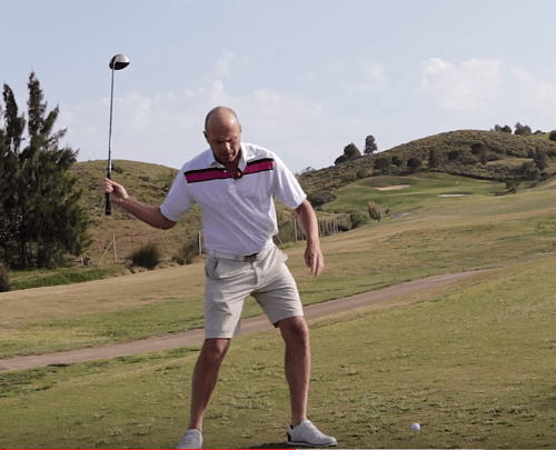 Abschwung golfschwung