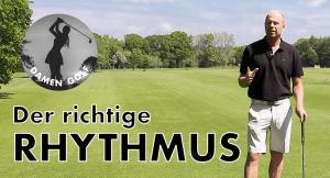 Den Golfschwung in den richtigen richtigen Rhythmus bringen