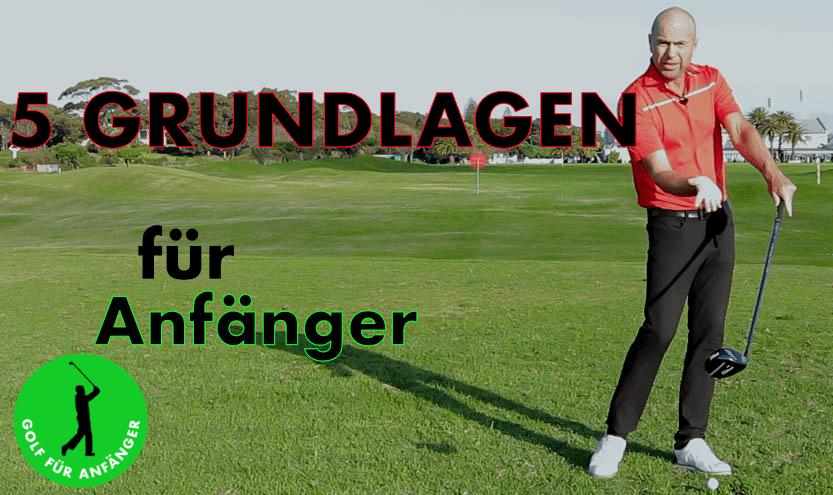 5 golf grundlagen