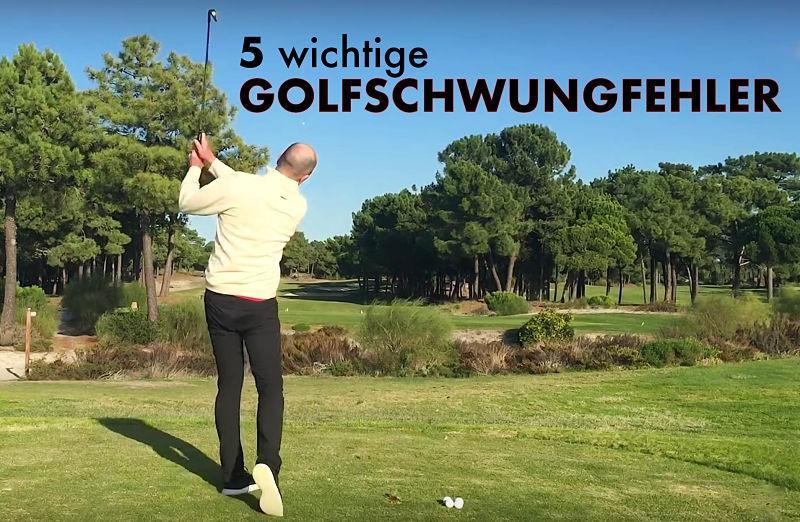 golfschwung fehler