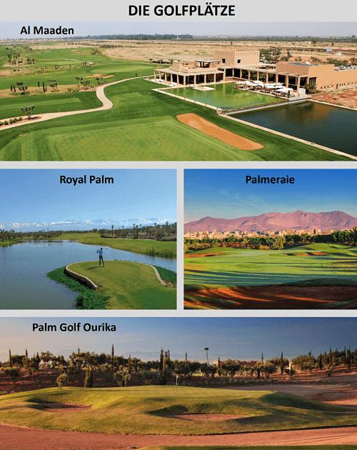 golfreise marrakesch die plätze
