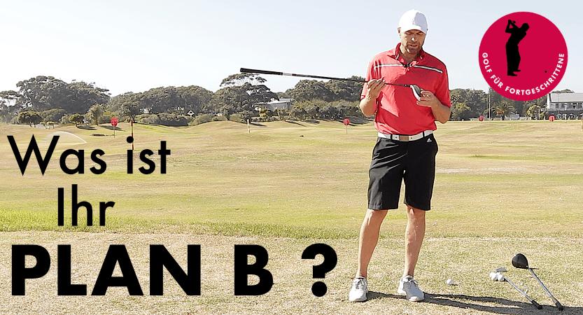 Golf Abschlag Plan B